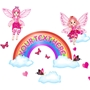 Picture of Fairies Butterflies and Rainbow wall sticker