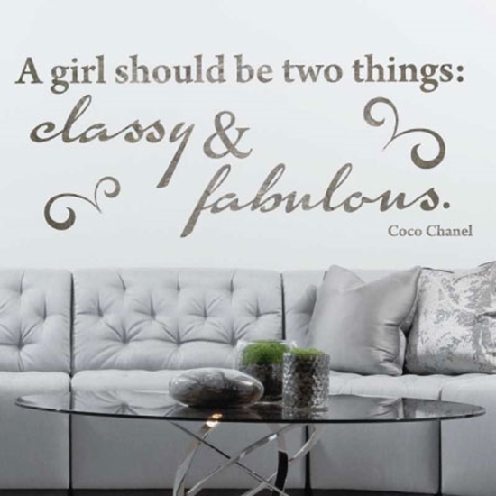 Picture of Slate Stone Effect Wall Quote Classy & Fab