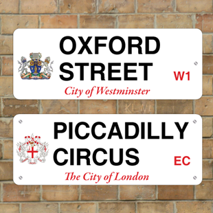 Picture of London Street Sign with Crest