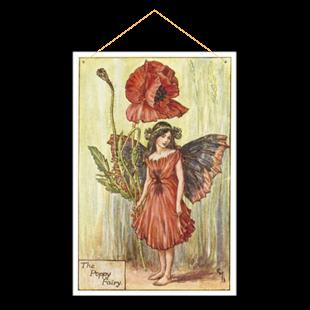 Picture of Poppy Flower Fairy Graden Sign