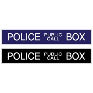 Picture of English Police Box Sign