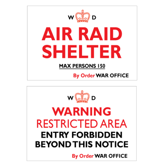 Picture of WW2 War Office Metal Air Raid Shelter Sign