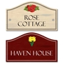 Picture of Flower Motifs Wooden Effect House Sign