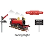 Picture of Personalised Train Wall Sticker, Boys Bedroom Name Railway Station Totem Sticker