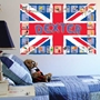 Picture of Large Union Jack Personalised Nursery ALPHABET/LETTER Wall freize Early Learning