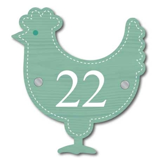 Picture of Unique Chicken Shaped House Number Sign