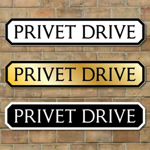 Picture of Privet Drive Sign, Road Sign, Vintage Street Sign