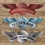 Picture of Personalised Aircraft RAF Wings Emblem, Man Shed Shaped Bar sign, Bike Logo Sign