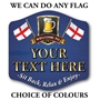 Picture of Set of 4 Personalised Beer Mats with Choice of Flags