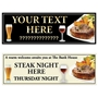 Picture of Steak Night Banner Personalised