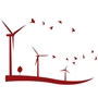Picture of Wind Turbine Wall Sticker, Windmill Wall Sticker, Large Modern Wall Mural