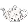 Picture of Vintage Teapot Clock, Teapot Shaped Wall Clock, Wooden effect, Load of Colours