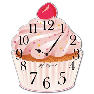 Picture of Cupcake Clock, Cute Vintage Cupcake Wall Clock, British Bake Off Wall Clock