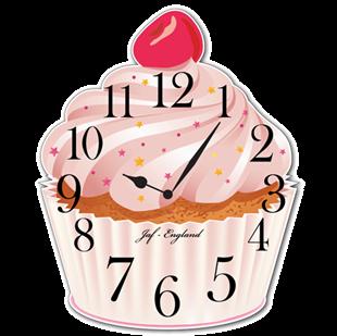 Picture of Cupcake Clock, Cute Vintage Cupcake Wall Clock, British Bake Off Wall Clock