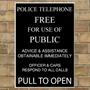 Picture of POLICE PHONE BOX Telephone Sign Vintage METAL Composite Wall Plaque poster