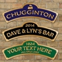 Picture of Personalised Arched Chuffington Sign, Vintage Railway Train Sign, Station Sign