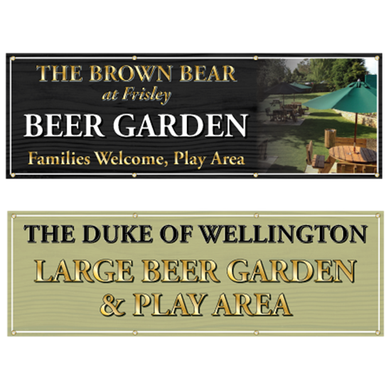 Picture of Beer Garden Outdoor Pub Banner