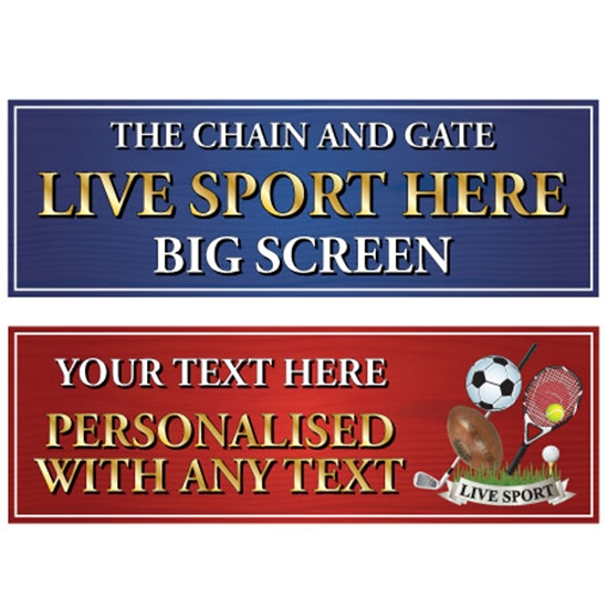 Picture of Sports Advertising Pub Banner