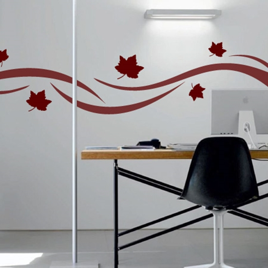 Picture of Natural Matt effect vine wall sticker
