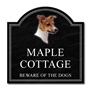 Picture of Jack Russell Dog Stone Effect House Sign