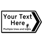 Picture of Personalised Road Direction Pointing Sign Deep Size