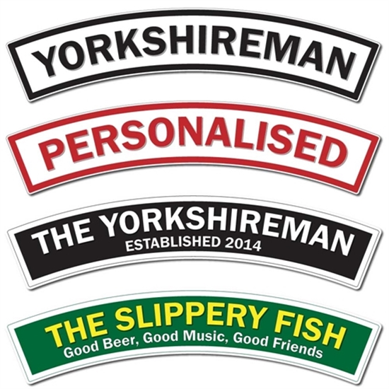 Picture of Yorkshireman Arched Train Sign