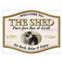 Picture of Barrel Shaped Personalised Photo Home Bar Sign