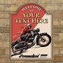 Picture of Vintage Motorcycle Custom Sign