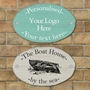 Picture of Driftwood Effect Oval House Sign