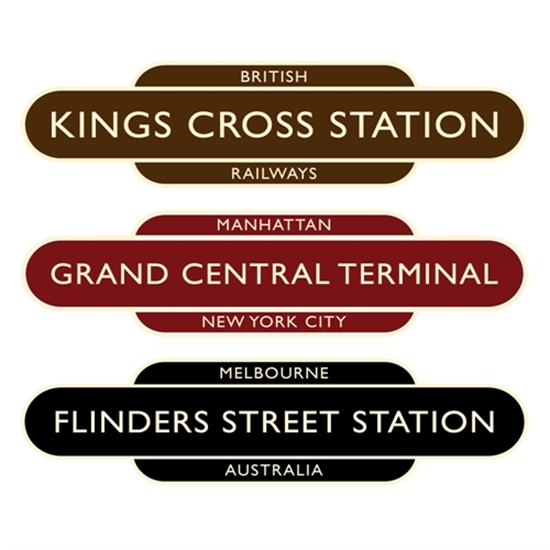 Picture of Classic Ivory  Railway Station Totem Sign