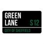 Picture of Custom Matt Black London Street Sign