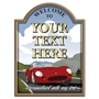 Picture of Personalised Vintage Racing Car Custom Sign