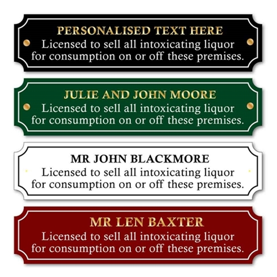 Picture of Custom Traditional Licence to sell alcohol Sign