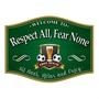 Picture of Traditional Barrel Shaped Pub Home Bar Sign with beer glass and footballs