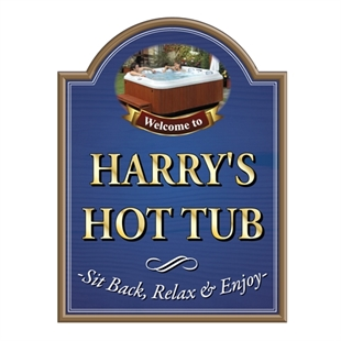 Picture of Garden Jacuzzi Sign, Hot Tub Sign