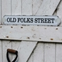 Picture of Old Vintage Style Shell Street Road Sign.