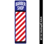 Picture of Barber Shop Metal Sign, Barbers Pole