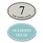 Picture of French Oval House Plaque