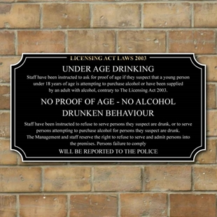 Picture of Pub Licensing Law Sign