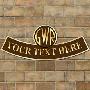 Picture of GWR Logo Arched Personalised Train Sign