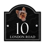 Picture of Personalised Yorkshire Terrier Dog House Number sign
