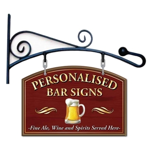 Picture of Curved Hanging Pub Sign & Bracket
