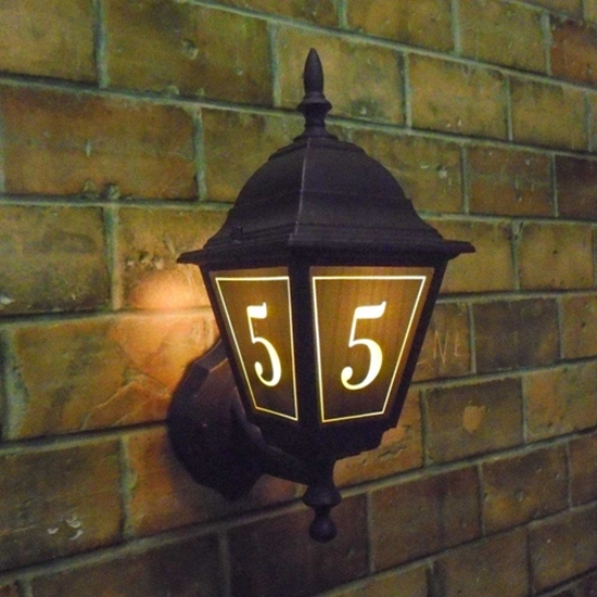 Picture of House Number Lantern Light