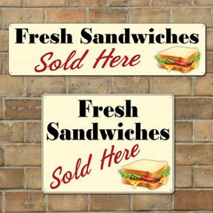 Picture of Fresh Sandwiches Sold Here Sign
