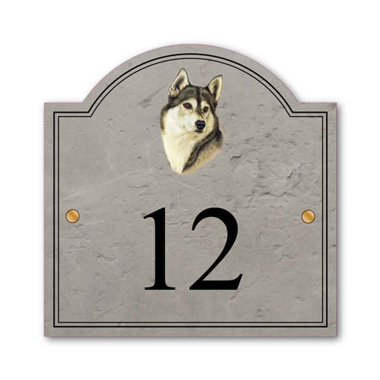 Picture of Personalised Siberian Husky House Plaque Name