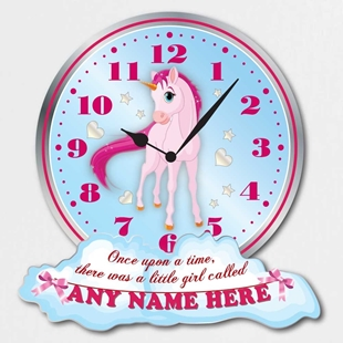 Picture of Unicorn Personalised Girls Bedroom Clock