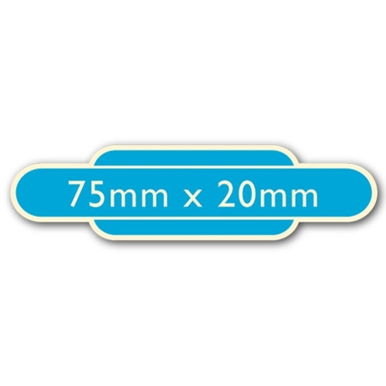 Picture of Classic Ivory Railway Totem Stickers 75mm x 20mm