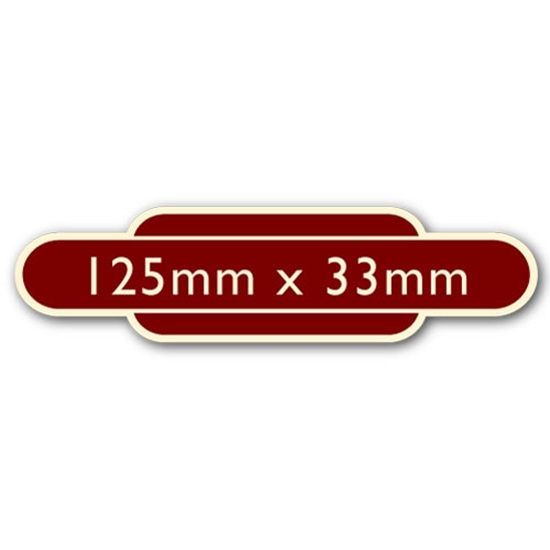 Picture of Classic Ivory Railway Totem Stickers 125mm x 33mm