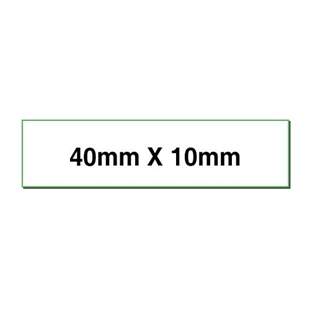 Picture of Rectangular stickers 40mm x 10mm