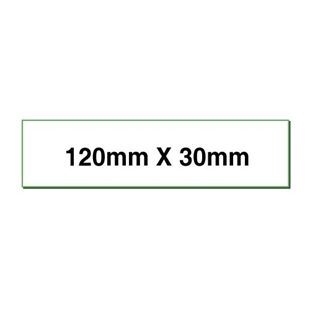 Picture of Rectangular stickers 120mm x 30mm